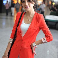 Elegant Slim OL Suit Orange S000173