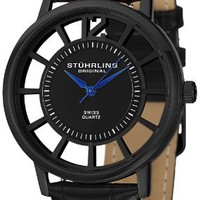 My Associates Store - Stuhrling Original Men's 388S.33551 Classic Winchester Swiss Quartz Black Watch Set