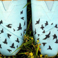 Flying Birds TOMS by StunnaDeanna on Etsy