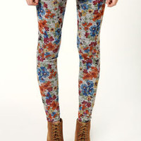 Emma Brushed Knit Floral Print Leggings