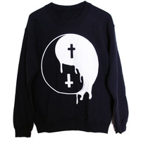 Crewneck Sweater // Melting Yin Yang BMA