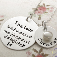 Hand Stamped Necklace, Mother &amp; Dau.. on Luulla
