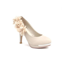 Attractive Lace Flower Embellished Pointed High Heel Shoes For Women  - Sammydress.com