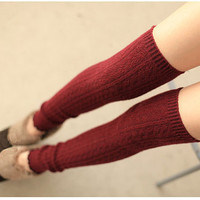 High Quality Burgundy Leg Warmer Wool Crochet Leg Warmers Long Slim Leg Warmers Large Calves Leg Warmers Booties Socks(IT02)