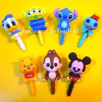 Japan Disney Toy Story Little Green Man 3 Eyes Alien Earphone Jack Accessory Dust Plug Stopper Ear