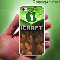 Minecraft case for iphone 4 & 4s Black and White by Graphicpals