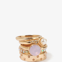 Princess Stack Ring Set | FOREVER 21 - 1030187972