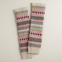 Fairisle Hearts Wool Legwarmers
