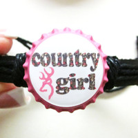 Camo Country Girl Browning Bottlecap Adjustable Black by sydni1999