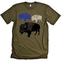 Buffalo Tshirt Animal Graphic Tee MENS Shirt by CritterJitters