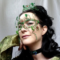 May Queen Masquerade Mask, Handmade on Luulla