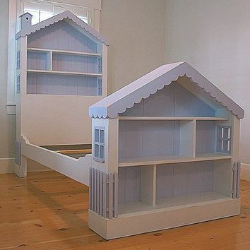 Cottage Dollhouse Bed by Bradshaw Kirchofer, Beds, Furniture for Girls