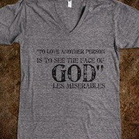 Les Miserables LOVE-Unisex Athletic Grey T-Shirt