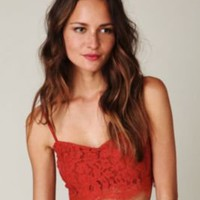 Lace Crop Bralette at Free People Clothing Boutique
