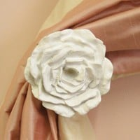 Cabbage Rose Curtain Tiebacks