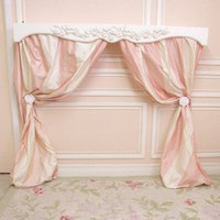 Bella Collection White Shabby Rose Curtain Box Canopy