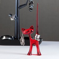 Ring Stand Miaou transparent red | Koziol Shop