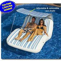 My Associates Store - Luxury Cabana Extra Large Lounger is Ideal for the Beach, Pool, Lake and Land!