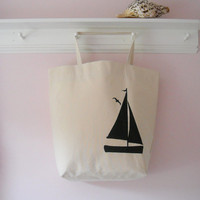Extra Large Tote Bag, Duck Cloth, Natural, One of a Kind