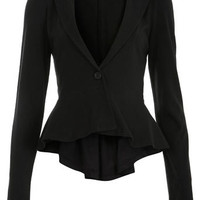 Black Jersey Peplum Blazer - View All  - Sale &amp; Offers