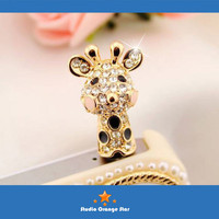 1PC Bling Crystal Tropic Animal Cute Giraffe by StudioOrangeStar