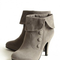 victorian charm heeled boots at ShopRuche.com