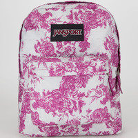 Jansport Black Label Superbreak Backpack Berrylicious Vintage Flor One Size For