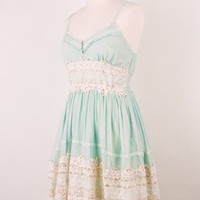 Got a Date Mint Lace Dress - Retro, Indie and Unique Fashion