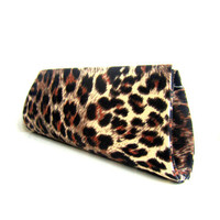 Leopard Cotton Clutch for Special Events