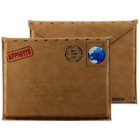 Envelope Leather Vintage -Post Air Mail Protective Sleeve / Pouch / Bag for iPad, Kindle, Samsung-B