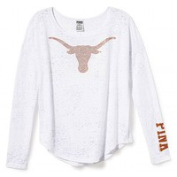 University of Texas Bling Long-sleeve Drapey Tee
