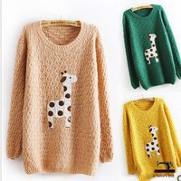 Lovely dots giraffe sweater 3 colors FS35