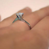 6.00 carats Diamond Engagement Ring 14k White Gold by ldiamonds