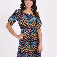 Color Me Chevron Dress by Hot & Delicious @ FrockCandy.com