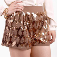 Pop of Paillette Embellished Shorts @ FrockCandy.com