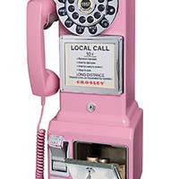 Crosley 50s Replica Pay Phone | Retro Phones | RetroPlanet.com