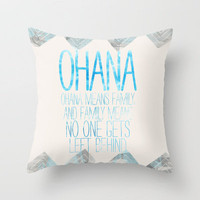 OHANA Throw Pillow by Sara Eshak | Society6
