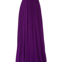 Roberto Cavalli|Embellished silk-chiffon bustier gown|NET-A-PORTER.COM