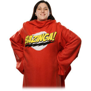ThinkGeek :: Bazinga! Blanket with Sleeves