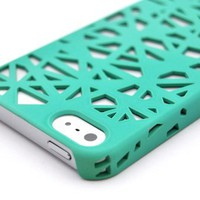Wydan Teal Birds Nest Woven Designed Ultra Thin Hard Case for iPhone 5 5S Cover