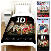 One Direction 1D Polar Fleece Photo Blanket Throw Louis Tomlinson Harry Styles A