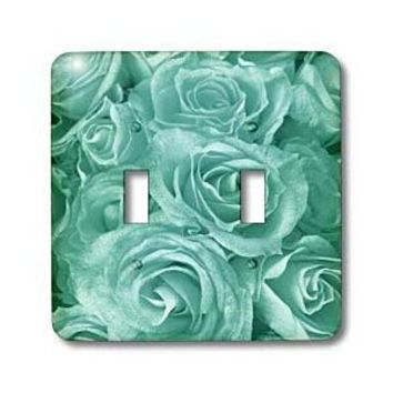 3dRose lsp_29901_2 Close Up Scene of Dreamy Pastel Tiffany Blue Roses Double Toggle Switch