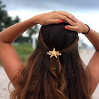 Starfish and Sea Shell Mermaid Barrette