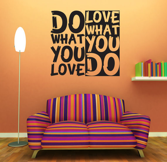 Wall Decoration Text : Wall decal quote text vinyl sticker home from artoxo on etsy