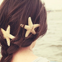 Sugar Starfish Hair Clip by WashedAshoreFL on Etsy