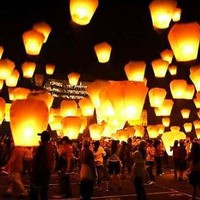 36 Sky Lanterns 1 CASE - White