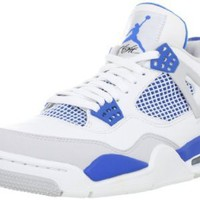 Amazon.com: NIKE AIR JORDAN 4 IV Retro Military Blue White Neutral Grey Shoes: Shoes