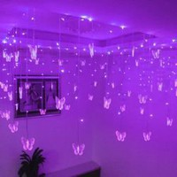 Fantastic AC110V 8Mx0.75M 192 Leds Light String For Home Decoration CIS-84055 (Purple)