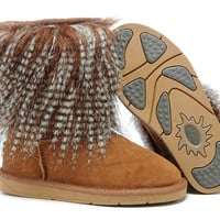 UGG 1875 Sheepskin Cuff Boots Chestnut Outlet UK