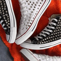 Spike Studded CONVERSE Brand new, Hand made.